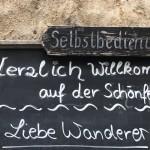 Liebe Wanderer Schönfeldhütte
