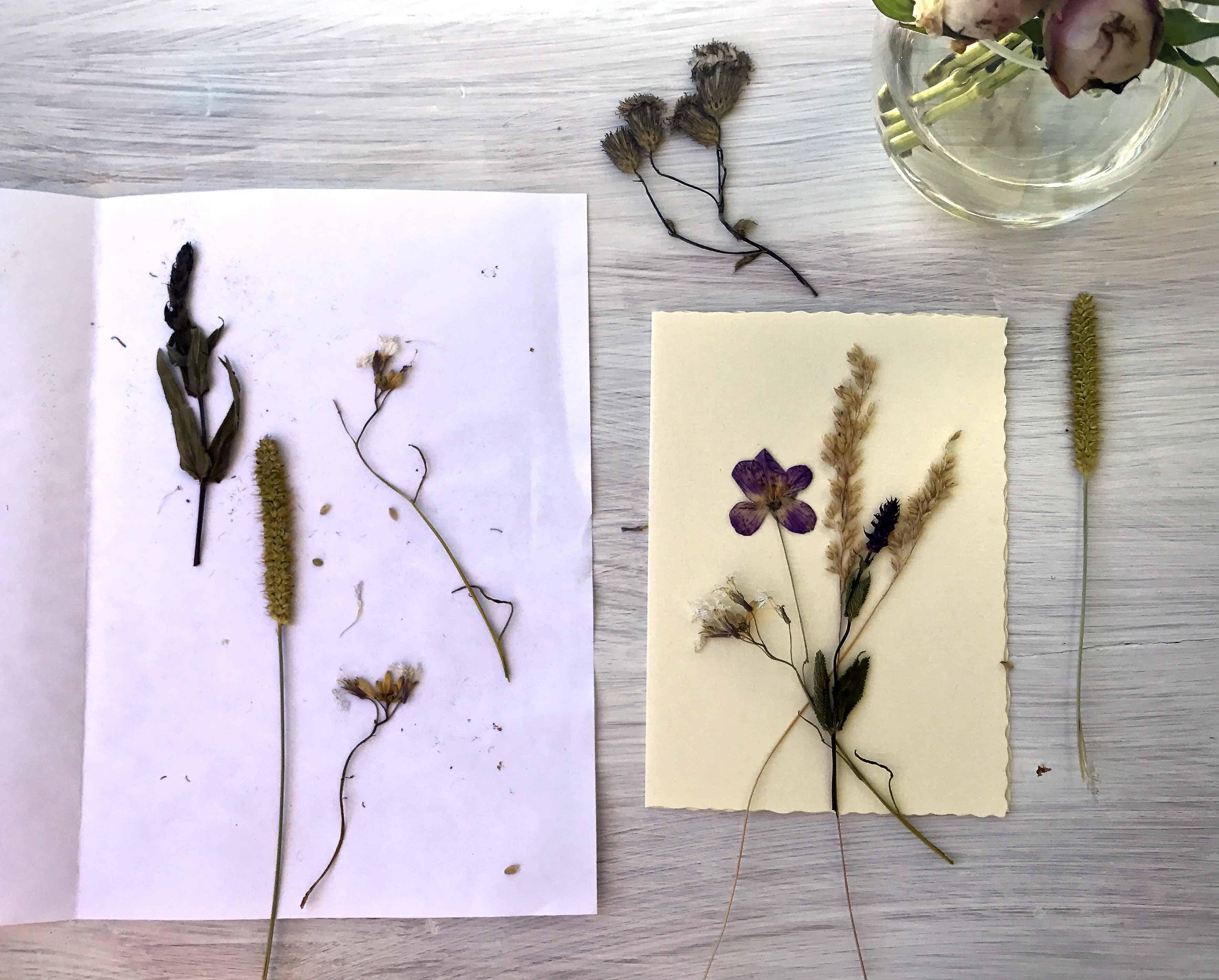 Blumen auf Grußkarte