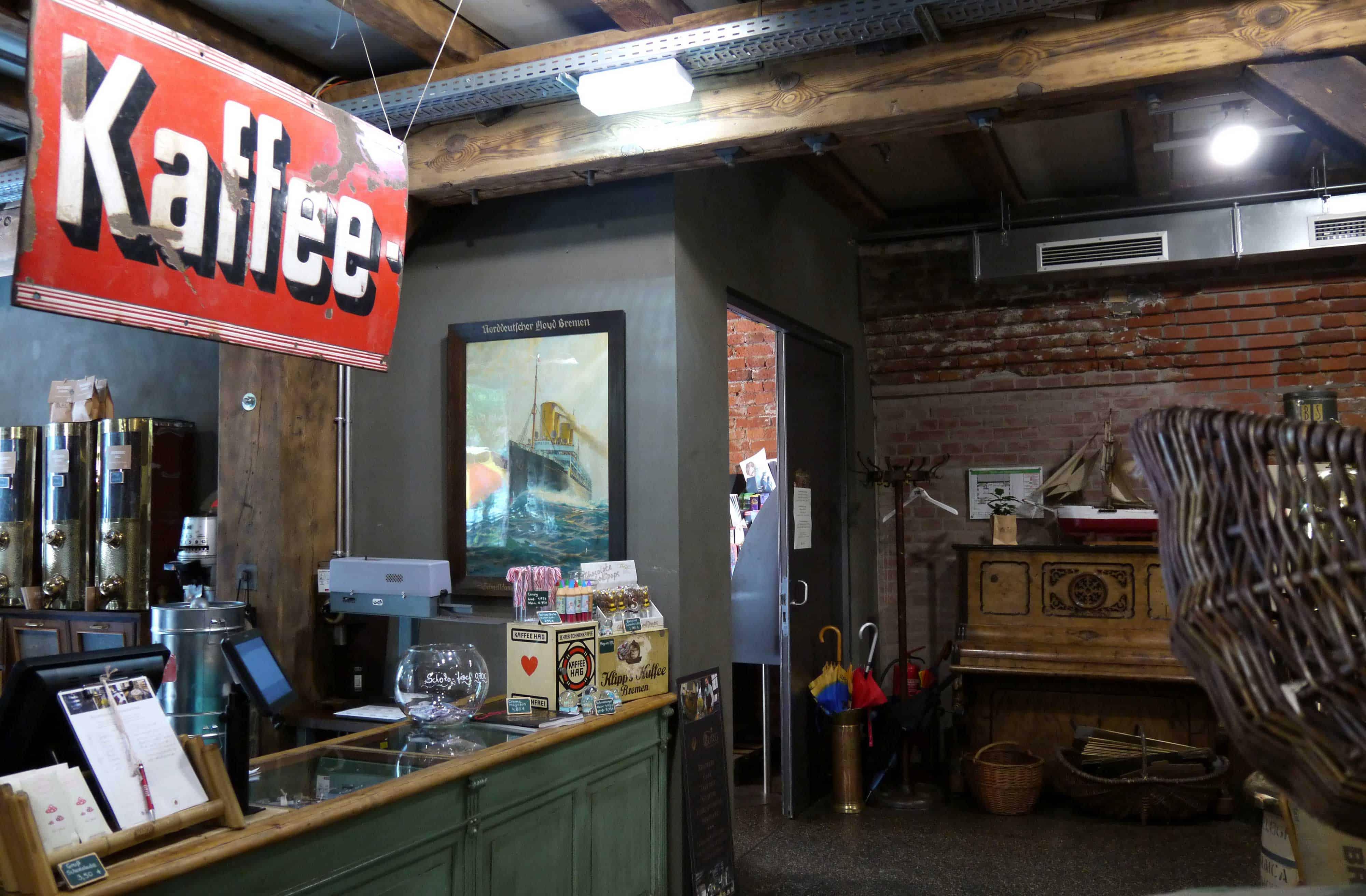 Shop in der Kaffeerösterei Burg