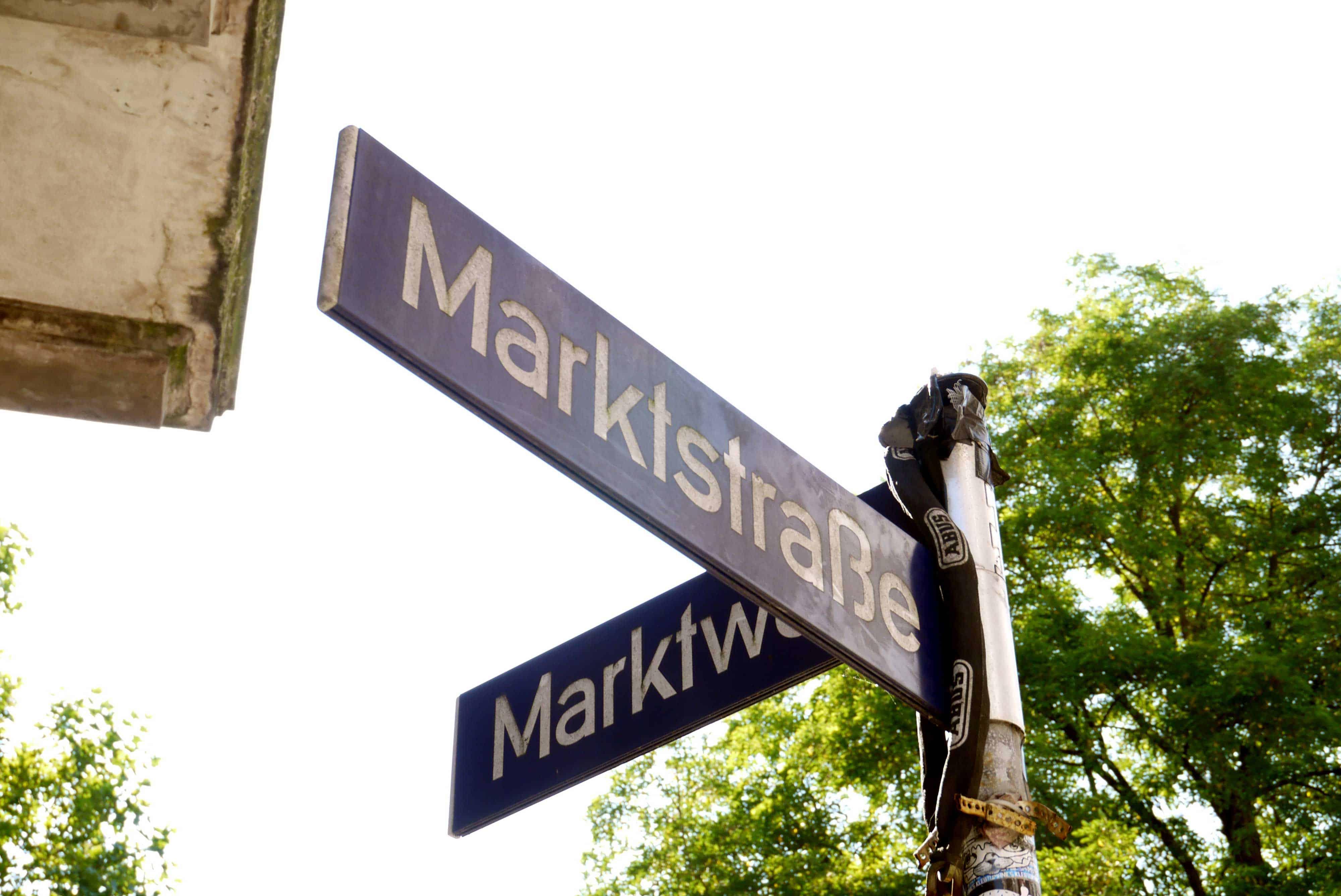 Straßenschild Marktstraße Hamburg