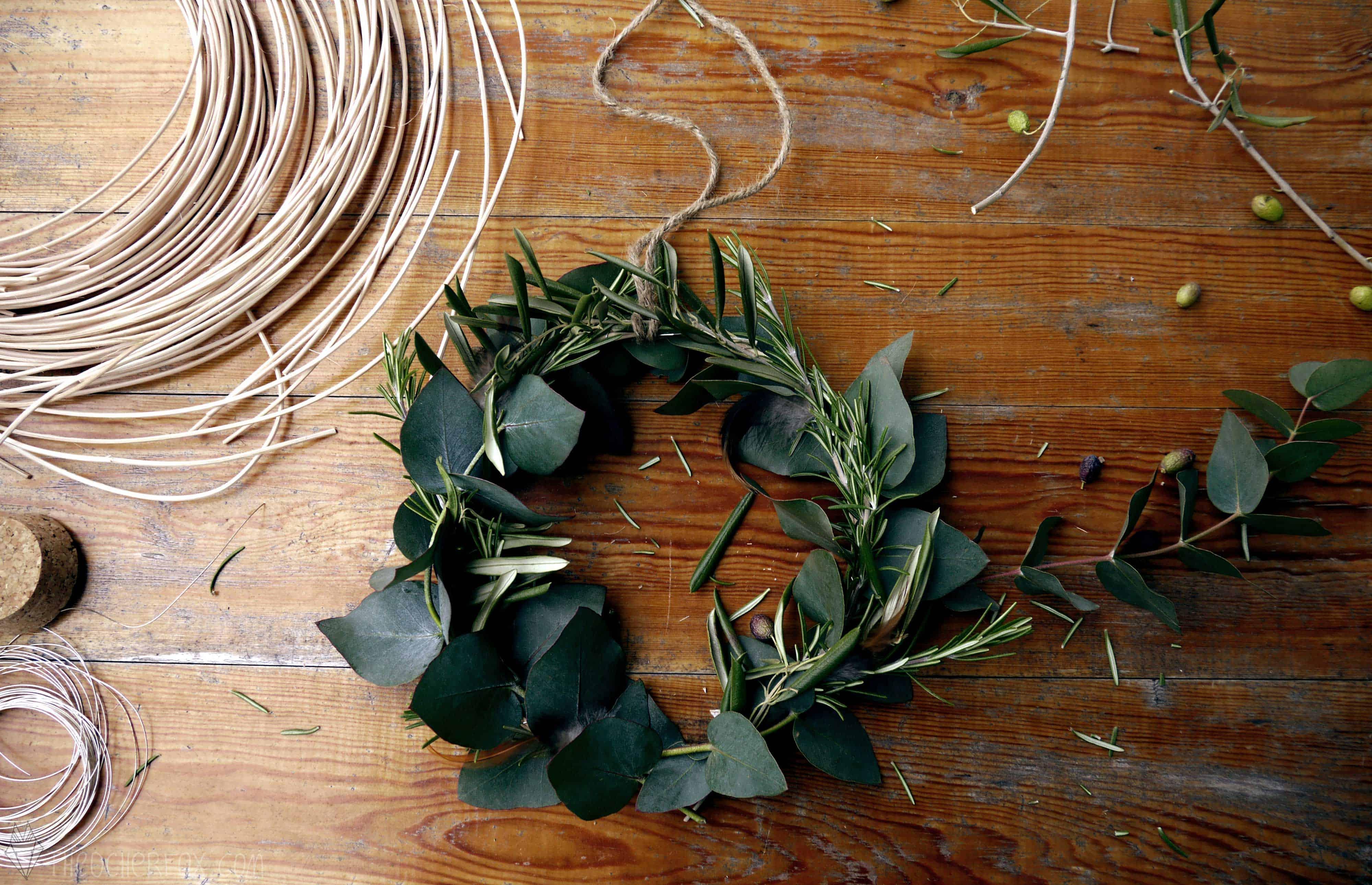 Eukalyptus, Rosmarin, Oliven Kranz