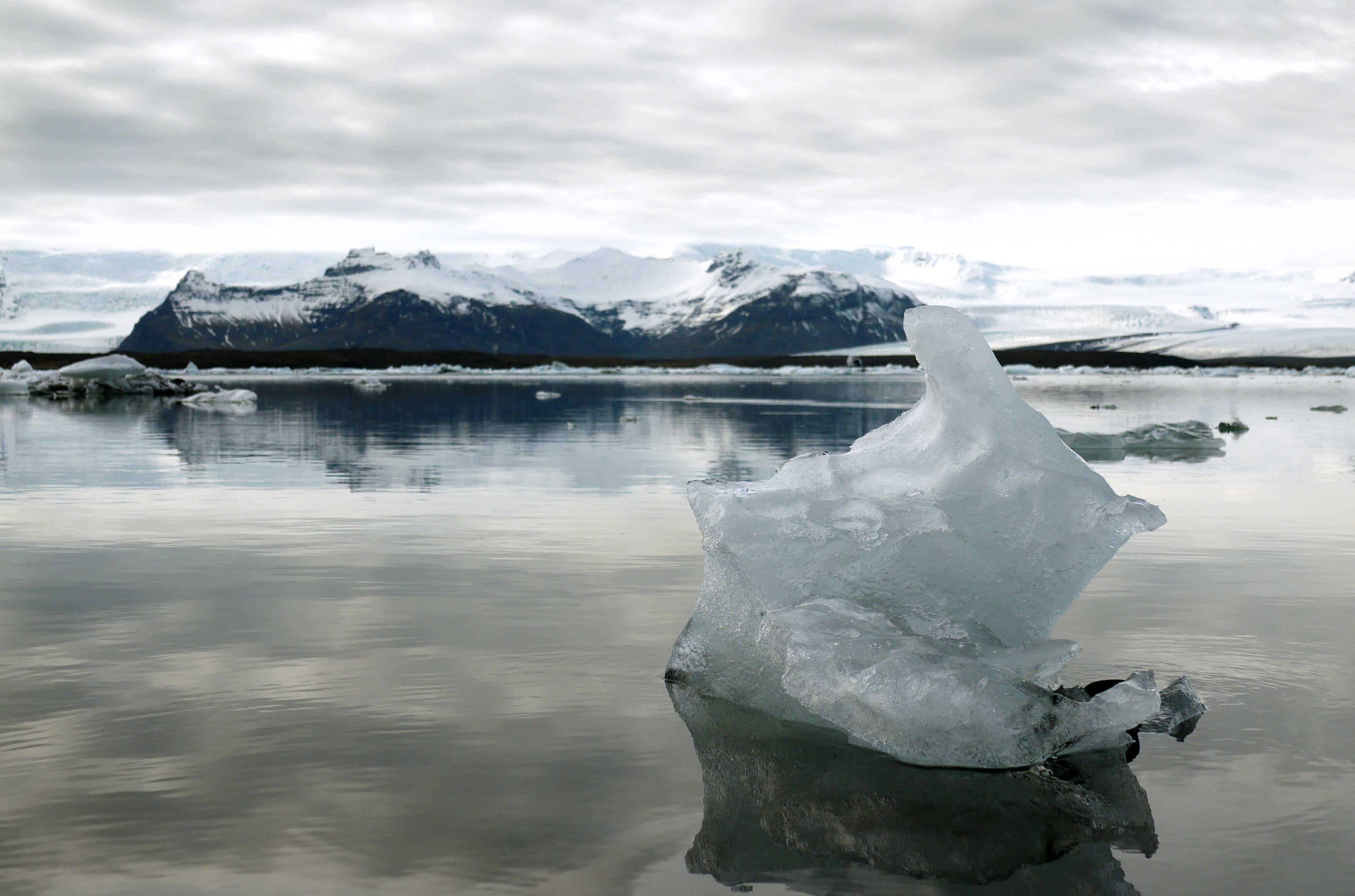 Gletscherlagune im Süden Islands